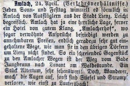 Aus Lienzer-Zeitung 1911