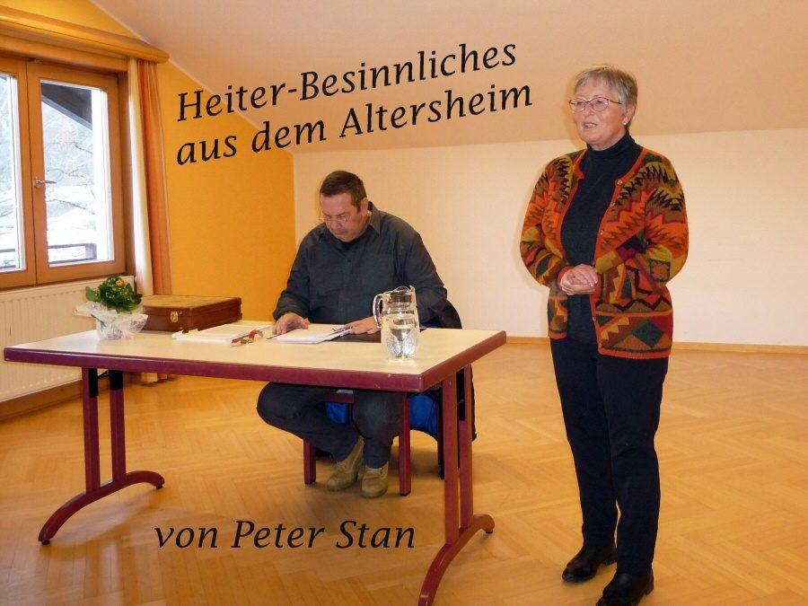 Peter Stan liest aus Erlebnissen im Altersheim