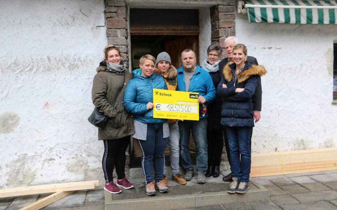 Übergabe Spendenkonto – Hochwasser Galitzenklamm