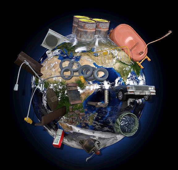 Problemstoffsammlung, am 17. April 2019 und Müll-Information