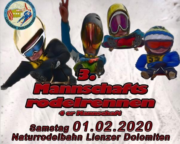 3. Mannschaftsrodelrennen 2020
