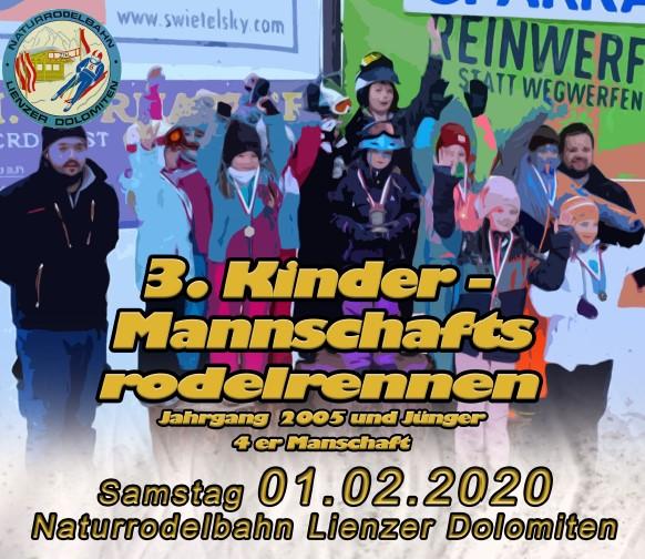 3. Kinder – Mannschaftsrodelrennen 2020