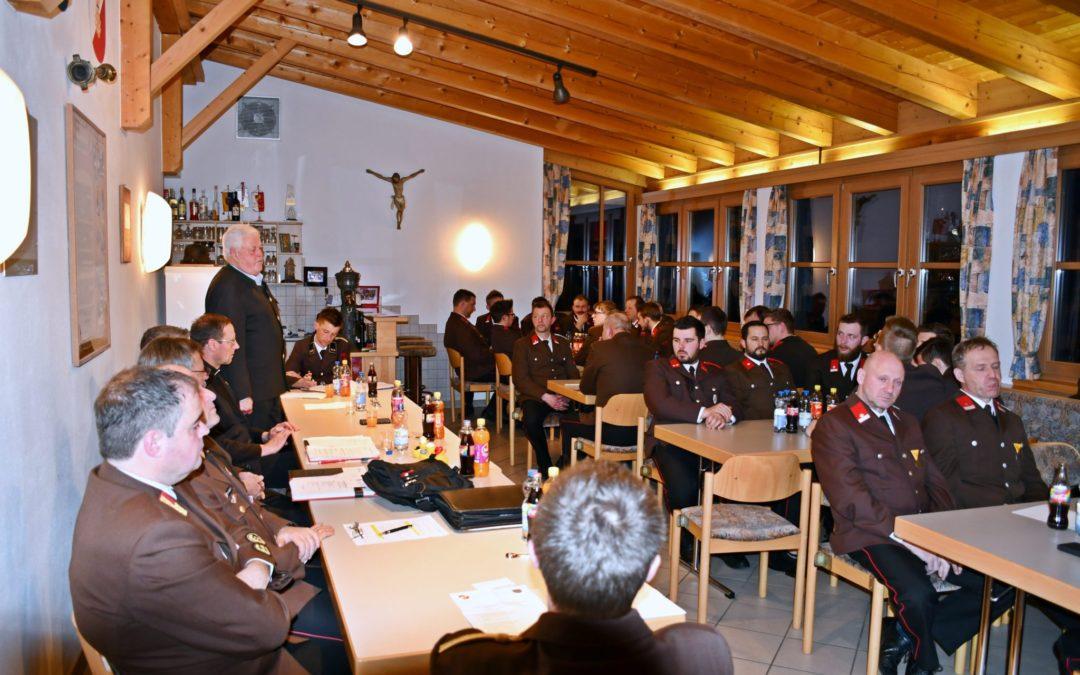 Jahreshauptversammlung 2020 FF-Amlach