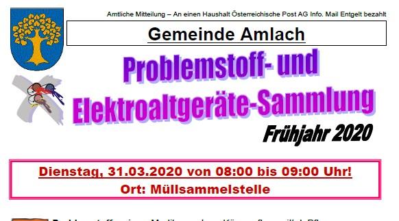 ***ACHTUNG*** Problemstoffsammlung am 31.032020 wird auf einen späteren Zeitpunkt verschoben!!!