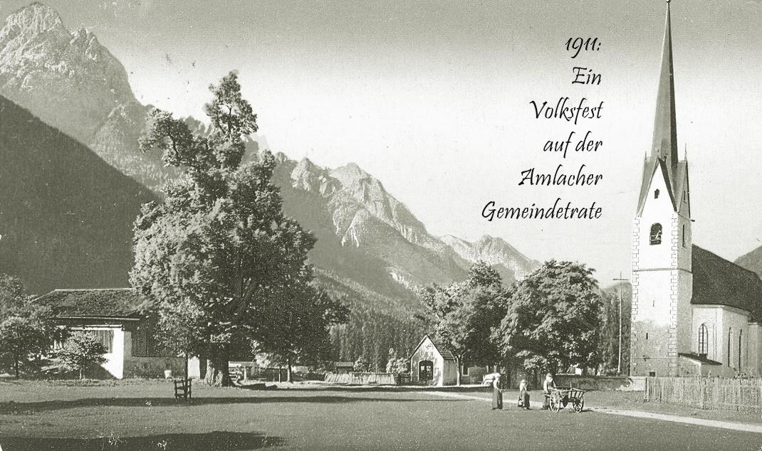 1911 – Volksfest auf der Amlacher Gemeindetratte