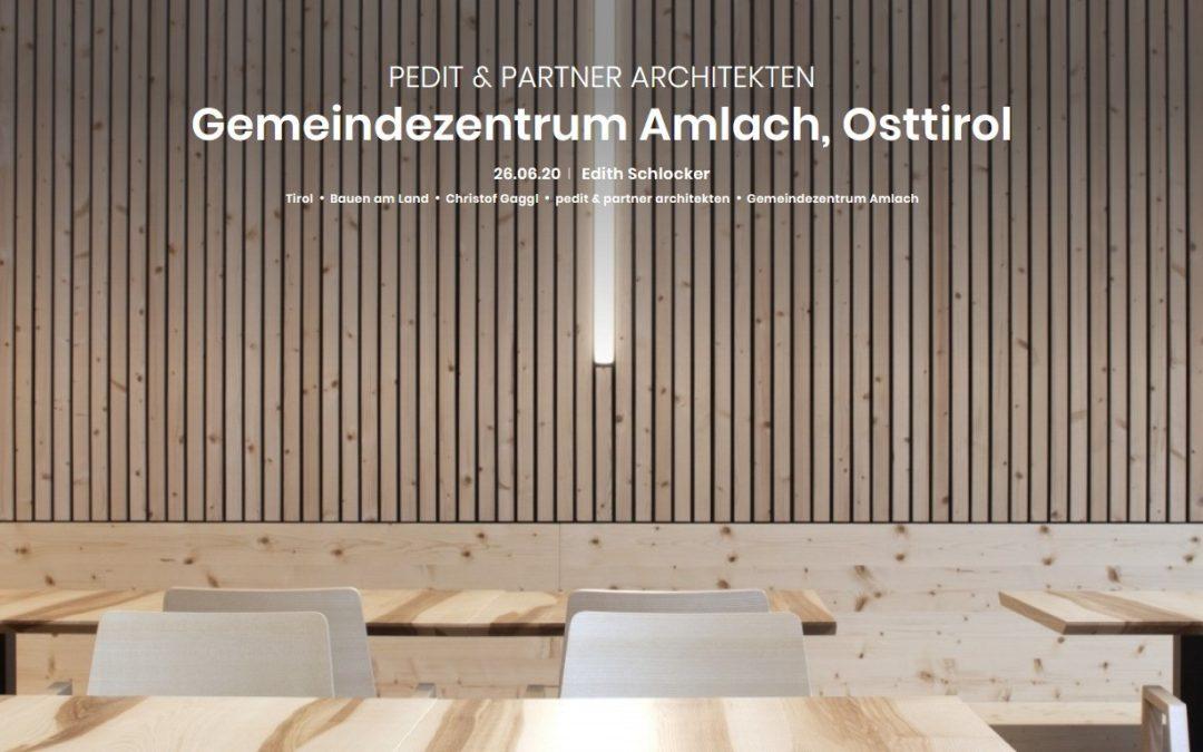 Ein Beitrag in der Zeitschrift – architektur.aktuell