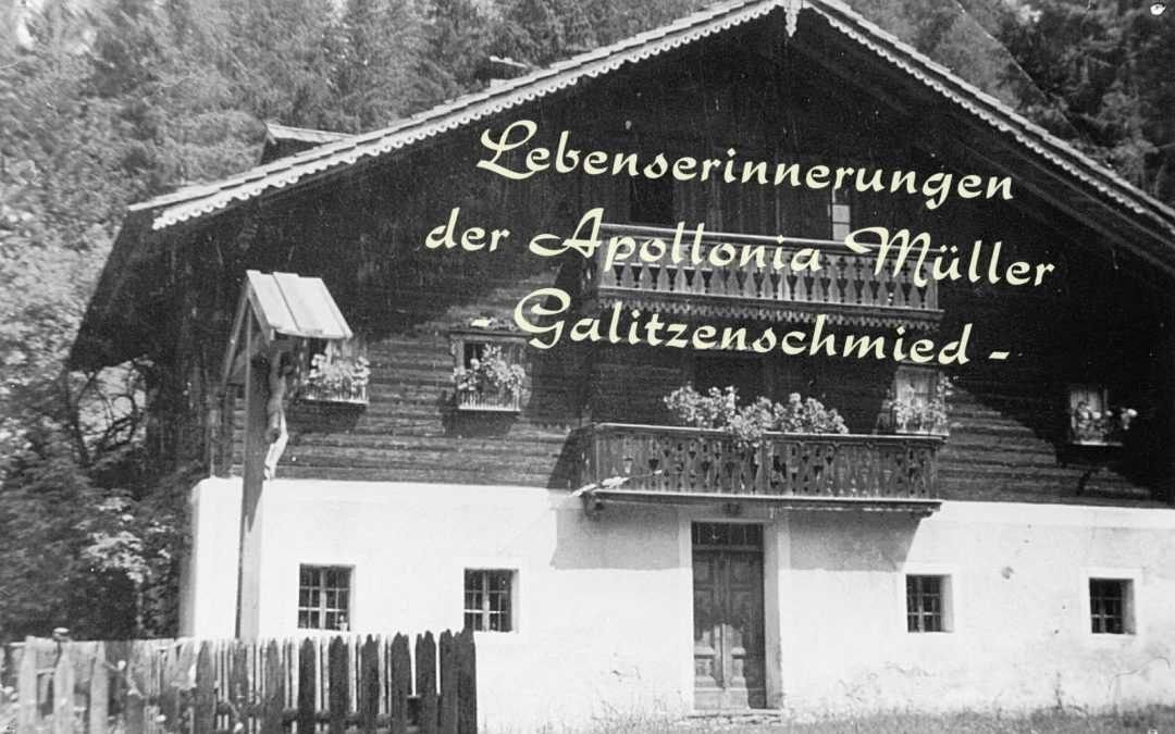 Lebenserinnerungen der Apollonia Müller – Galitzenschmied