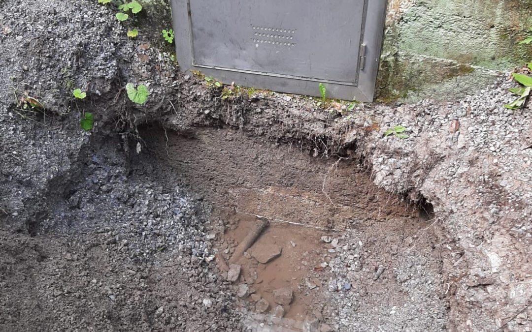 Sanierung Wasserversorgung im Leidental nach Vermurung im Herbst 2019
