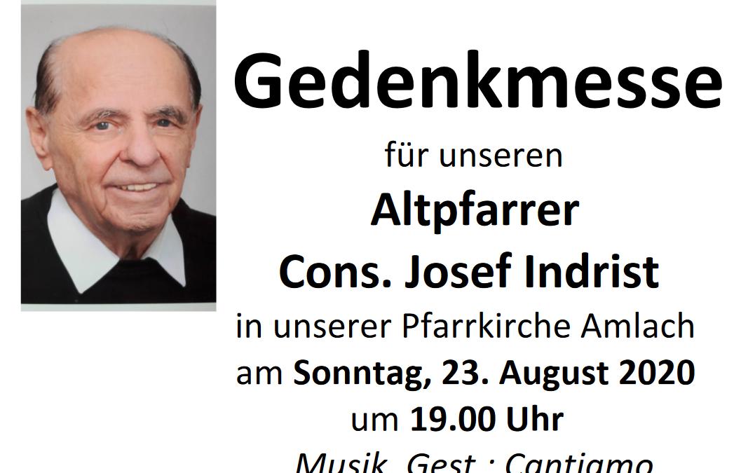Gedenkmesse Josef Indrist – 23.08.2020