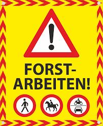 Information zu Forstarbeiten im Amlacher Wald vom 18.03.2021 bis 15.05.2021