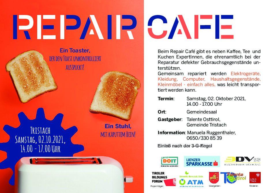 Repair Cafe – 2. Oktober 2021