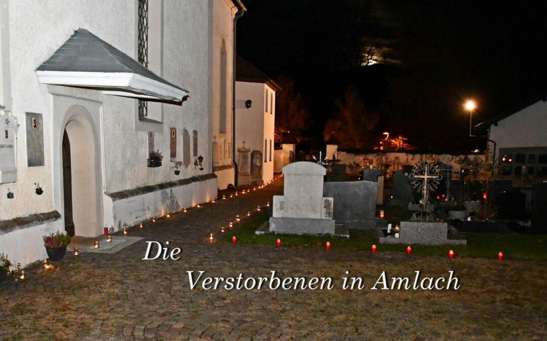 Die Verstorbenen in Amlach